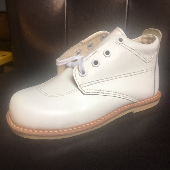 de91e8990ad New Infant Baby White Leather Walking Shoes SZ 6.5